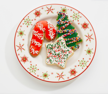 Unhealthy Eating「Christmas Cookies on Holiday Plate」:スマホ壁紙(13)