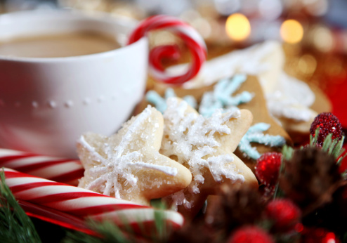 Gingerbread Cookie「Christmas- cookies and hot chocolate」:スマホ壁紙(7)