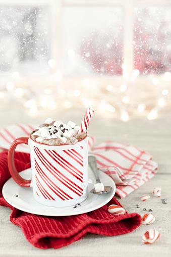 キャンディーケーン「クリスマス キャンデー杖ペパーミント ホット チョコレート」:スマホ壁紙(18)