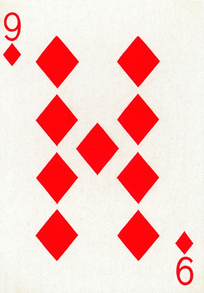 Recreational Pursuit「9 of Diamonds from a deck of Goodall & Son Ltd」:写真・画像(5)[壁紙.com]