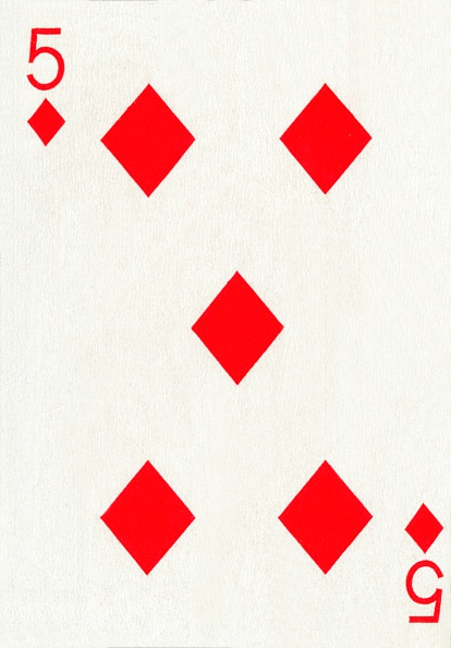 Recreational Pursuit「5 of Diamonds from a deck of Goodall & Son Ltd」:写真・画像(4)[壁紙.com]