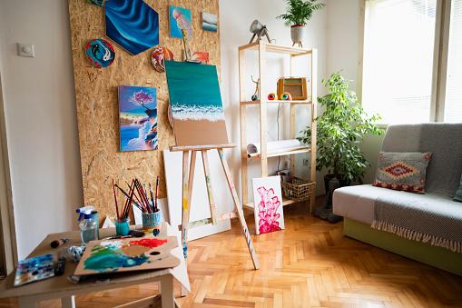 Inexpensive「A room where an artist works」:スマホ壁紙(7)