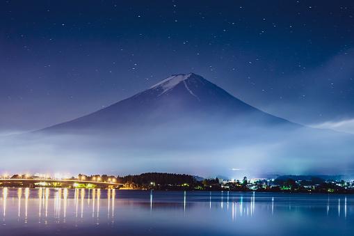 Satoyama - Scenery「Mt. Fuji Japan Mountain Night Starry Sky Milky Way」:スマホ壁紙(5)