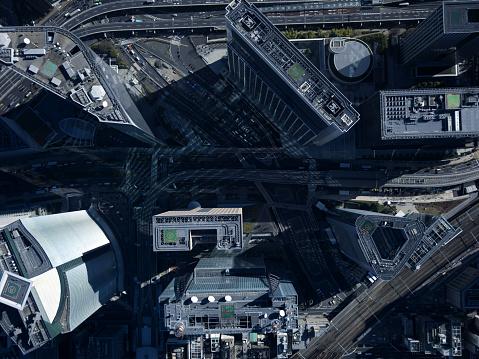 Shinbashi - Tokyo「Buildings seen from above.」:スマホ壁紙(10)