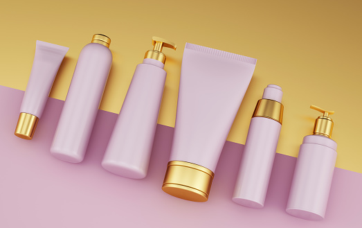 Skin Care「Set of health care cosmetics template」:スマホ壁紙(13)