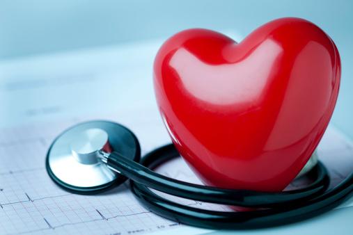 Heart「Heart, stethoscope and EKG」:スマホ壁紙(3)