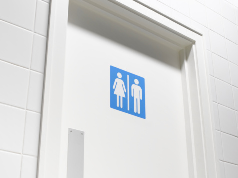 Female Likeness「Female and male sign on toilet door, low angle view, close-up」:スマホ壁紙(9)