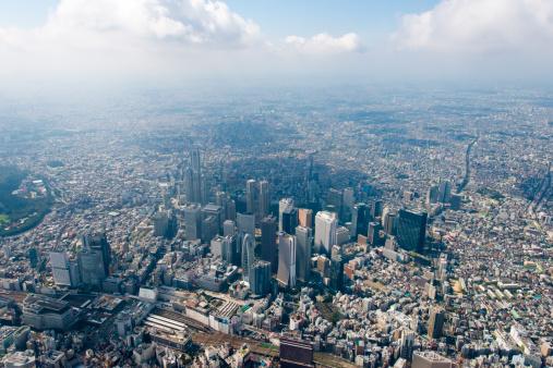 Tokyo - Japan「Tokyo Shinjuku Aerial shot」:スマホ壁紙(1)