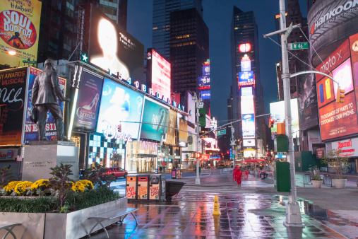 Town Square「USA, New York State, New York City, Time Square at night」:スマホ壁紙(14)