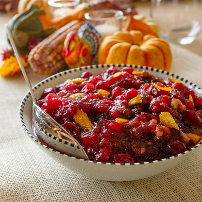 Cranberry Sauce「USA, New York State, New York City, Close-up of pumpkin pie for Thanksgiving」:スマホ壁紙(16)