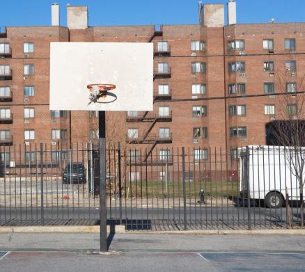 Basket「USA, New York State, New York City, basketball playground」:スマホ壁紙(13)