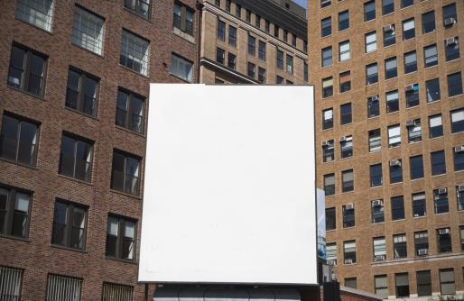 Mid-Atlantic - USA「USA, New York State, New York City, Empty billboard」:スマホ壁紙(1)