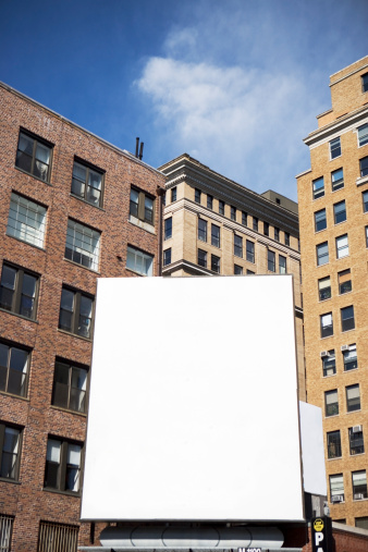 Vertical「USA, New York State, New York City, Empty billboard」:スマホ壁紙(12)