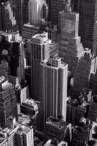 Aerial View「USA, New York State, New York City, Aerial view of skyscrapers」:スマホ壁紙(18)