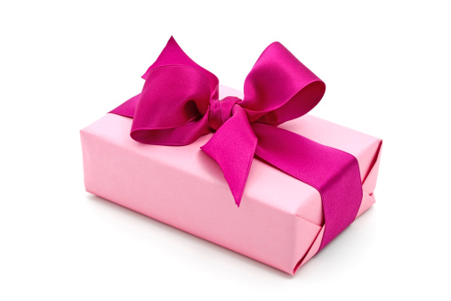 ピンク色「ピンクのギフトボックスにパープルのリボン」:スマホ壁紙(14)