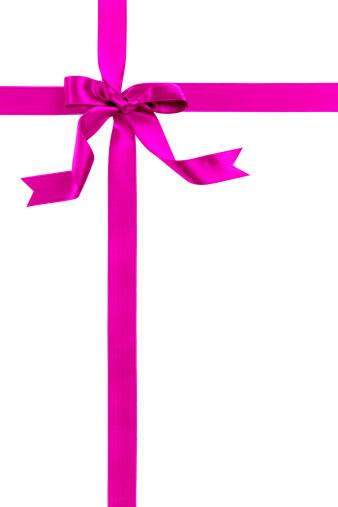 Christmas Paper「Pink gift bow」:スマホ壁紙(17)