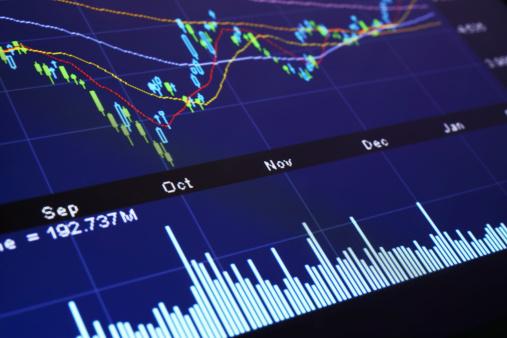 Number「Digital Stock Market Chart」:スマホ壁紙(16)