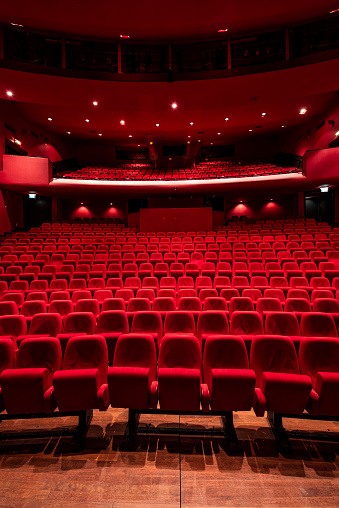 Auditorium「Red seats in theather」:スマホ壁紙(13)