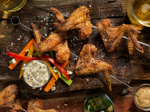 Chicken Wing「Grilled Chicken Wings With Vegetables」:スマホ壁紙(8)