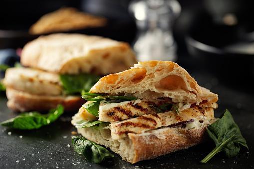 Chicken Meat「Grilled chicken ciabetta  sandwich」:スマホ壁紙(1)
