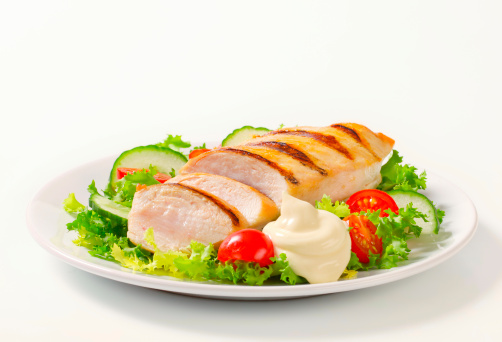 Sour Cream「grilled chicken breast with vegetable garnish」:スマホ壁紙(0)
