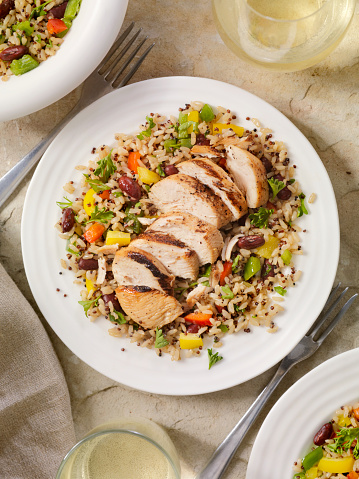 Chicken Meat「Grilled Chicken with Quinoa and Brown Rice Salad」:スマホ壁紙(14)