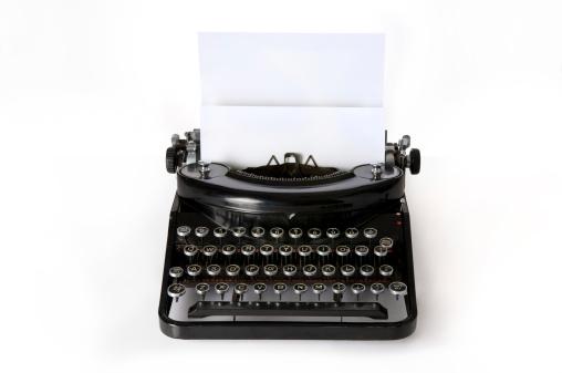 Writing「Old Typewriter」:スマホ壁紙(19)