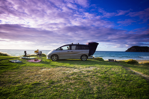 Camping「A beachfront campsite on the Coromandel」:スマホ壁紙(14)