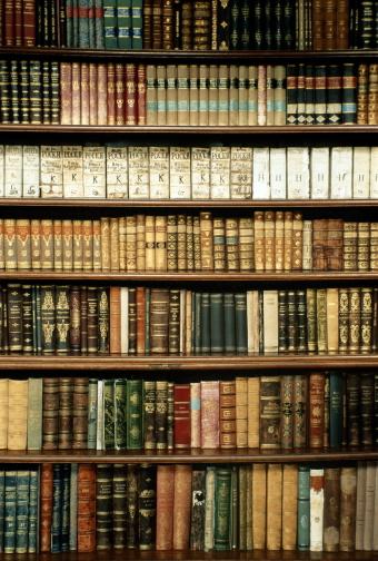 Old-fashioned「Czech Republic, West Bohemia, Tepla Monastery library bookshelves」:スマホ壁紙(6)