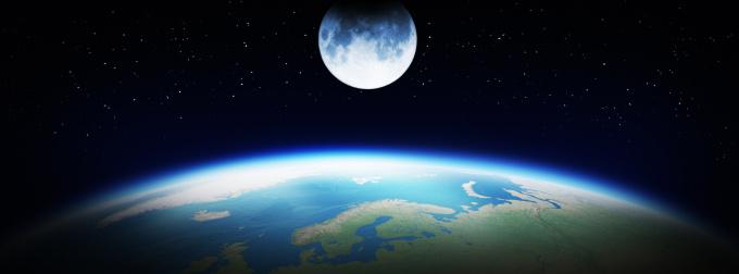 Moon「Earth and Moon」:スマホ壁紙(1)