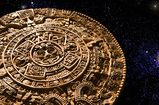 Mexico「Aztec calendar stone carving in space」:スマホ壁紙(14)