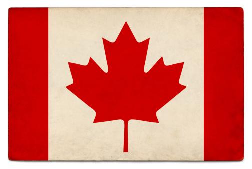 かえでの葉「グランジカナダ国旗にホワイト」:スマホ壁紙(6)
