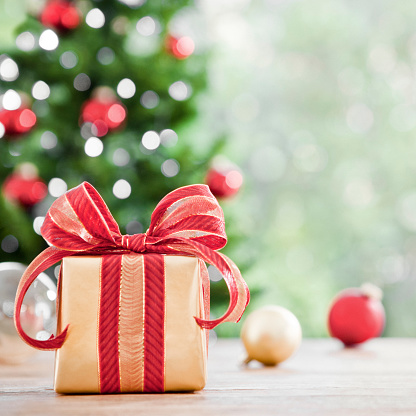 Christmas Paper「A picture of a wrapped Christmas gift」:スマホ壁紙(12)