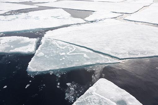 Pack Ice「Ice packs floating on water, Spitsbergen, Svalbard, Norway」:スマホ壁紙(11)