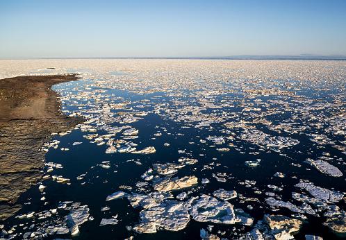 Pack Ice「Sea Ice, Hudson Bay, Nunavut, Canada」:スマホ壁紙(16)