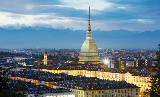 Piedmont - Italy「Elevated view of Turin and the Mole Antonelliana」:スマホ壁紙(18)