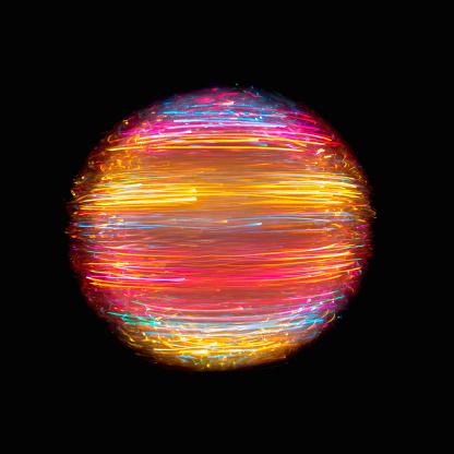 Light Trail「Orb of multi colored light」:スマホ壁紙(13)
