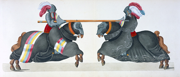 Horseback Riding「Two Knights Jousting At A Tournament 1842」:写真・画像(7)[壁紙.com]