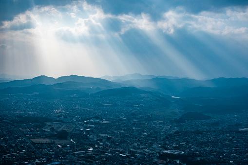 Satoyama - Scenery「Fukuoka city seen from the airplane」:スマホ壁紙(9)