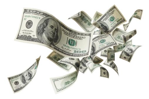 American One Hundred Dollar Bill「flying money」:スマホ壁紙(0)