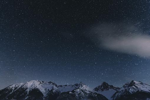Christmas Lights「Night starry sky and Swiss Alps」:スマホ壁紙(17)