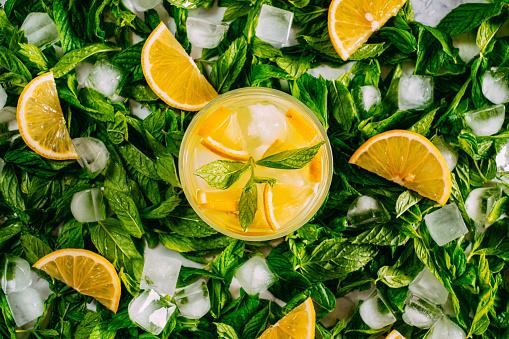 Mint Leaf - Culinary「Cold Lemonade on Fresh Mint」:スマホ壁紙(9)