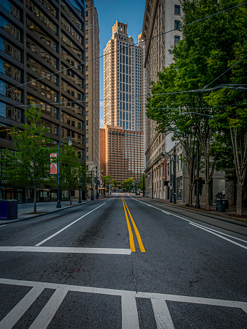 USA「Atlanta Empty Streets During COVID-19」:スマホ壁紙(12)