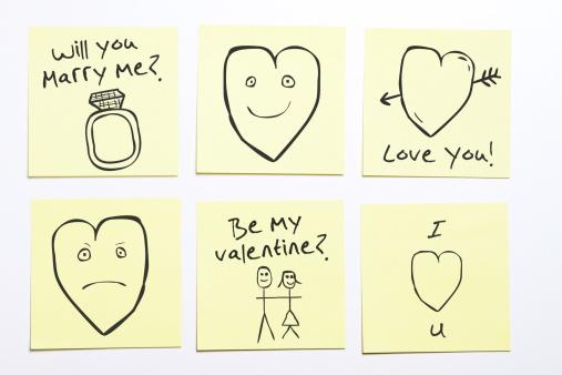 Writing「Romantic sticky memo notes」:スマホ壁紙(15)