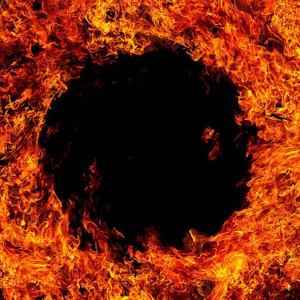 Round fire frame:スマホ壁紙(壁紙.com)