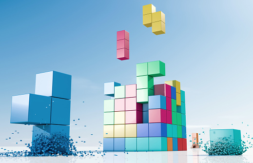 Leisure Games「Coloured elements forming a cube」:スマホ壁紙(8)