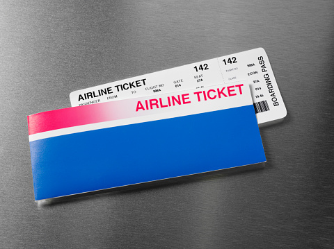 Business Travel「Arline Ticket on Stainless Steel」:スマホ壁紙(5)