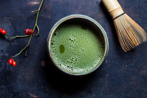 Green Tea「Japanese Matcha in Bowl with Matcha-whisk」:スマホ壁紙(15)