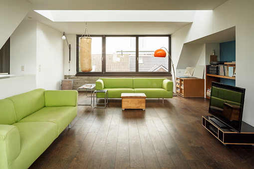 Wood Laminate Flooring「Modern living room」:スマホ壁紙(0)