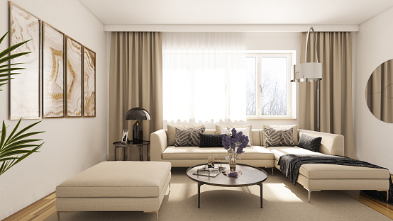 Curtain「Modern Living Room」:スマホ壁紙(16)